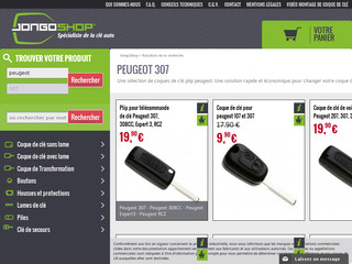 Jongoshop vente en ligne de coque de clé de voiture